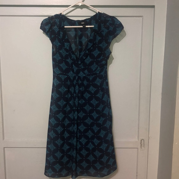 Mossimo Navy & turquoise design size small dress